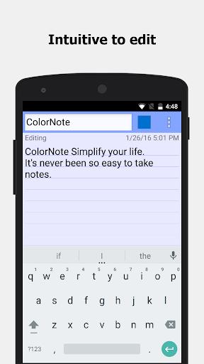 Note sul blocco note di ColorNote