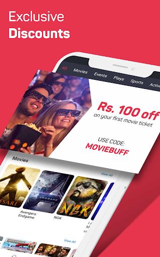 BookMyShow: biglietti per film, giochi