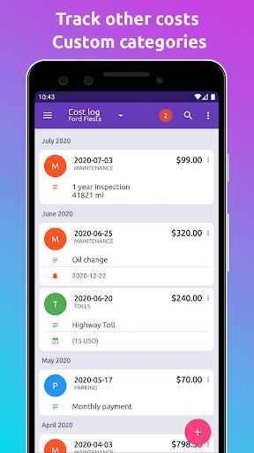Fuelio: registro gas e costi