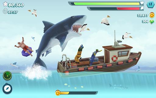 Evoluzione di squalo affamato