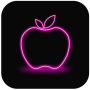 icon Apple Neon Wallpaper - FREE (Carta da parati Neon Apple - GRATUITA)